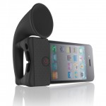 Horn_Stand_black_with_iphone_2