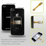 QYG Dual SIM Case for iPhone 4 - black