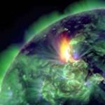 Φωτογραφία της ηλιακής έκρηξης που έδωσε στη δημοσιότητα η NASA την 19η Ιανουαρίου