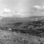 Πανοραμική φωτογραφία με τη Ντούλκα (Όλυμπος) στο βάθος. Μάης του 1913