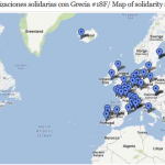 Map of solidarity demos for Greece