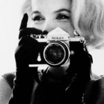 Marilyn Monroe with Nikon Camera