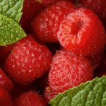 Rspberries in Colander