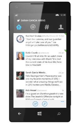 twitter windows phone app