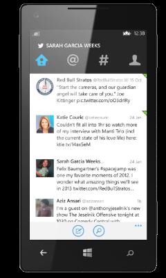 twitter windows phone app