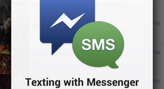 Το facebook ενσωματώνει τα sms στην android