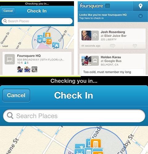Foursquare faster check in