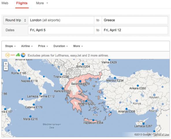 google-flights-search