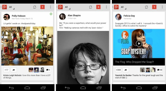 google plus app updates