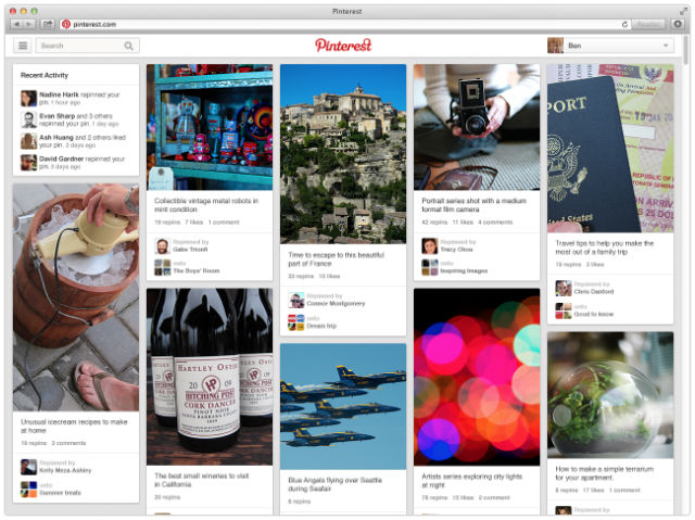 pinterest new appearance