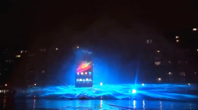Water show του sony xperia z στο παρίσι