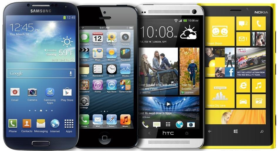 Samsung Galaxy S4 vs HTC One vs Sony Xperia Z vs iPhone 5 vs Lumia 920Xperia Z Vs Iphone 5 Vs Galaxy S4
