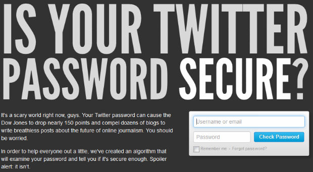Twitter is your password secure