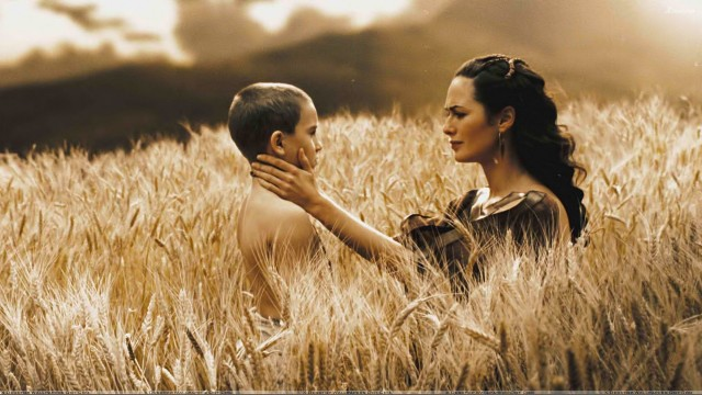 300 - Lena Headey With Boy In Field