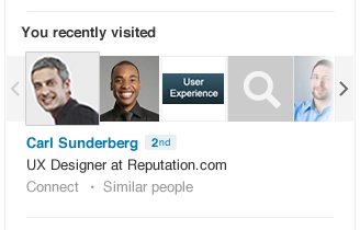 LinkedIn you recently viewed
