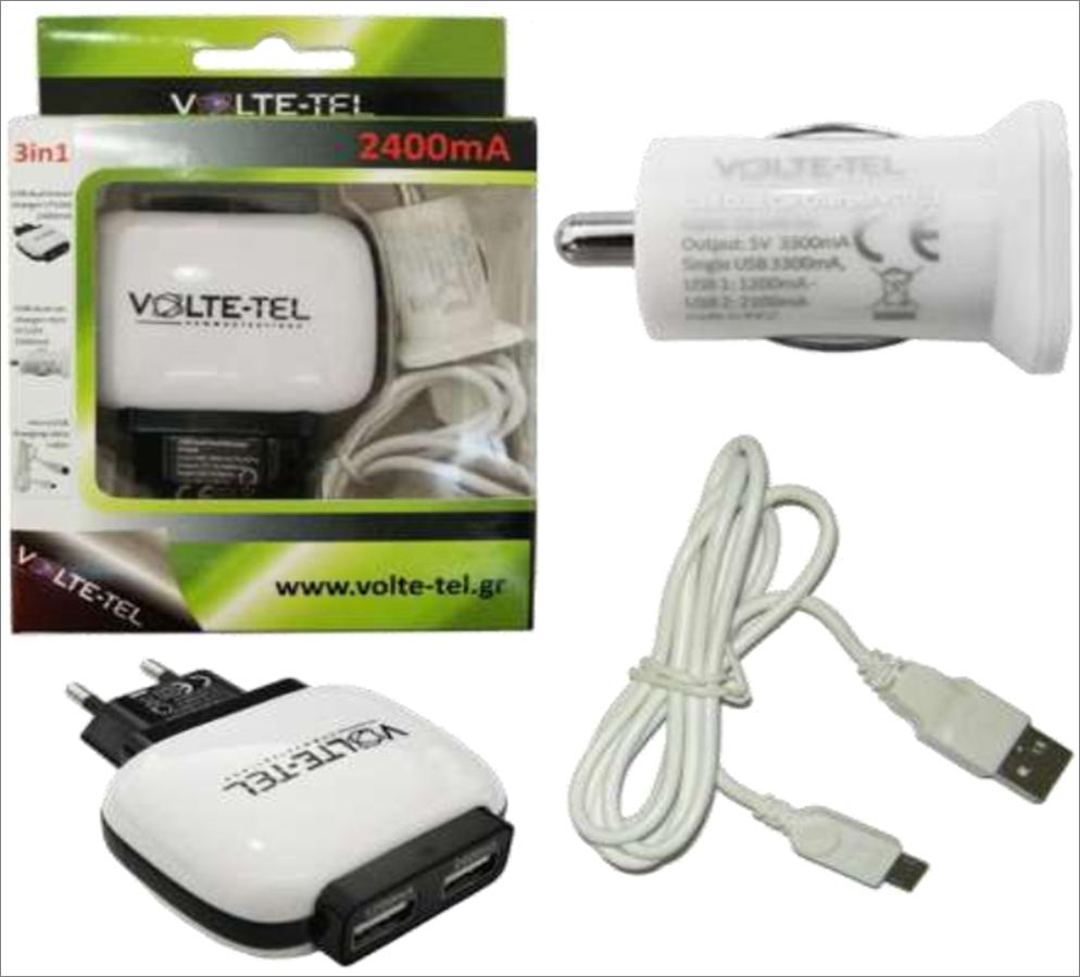MICRO USB(USB DATA VCD01+TRAVEL VTU64