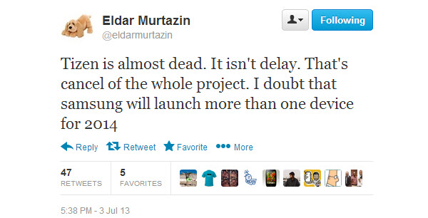 Tizen-dead-Eldar-tweet
