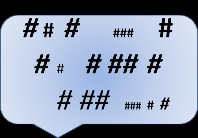 talking hashtags