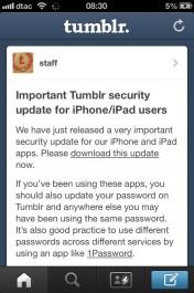 tumblr vulnerability for ios
