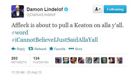 8-23 Tweets Lindelof
