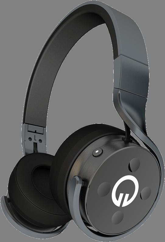Muzik Black Headphones