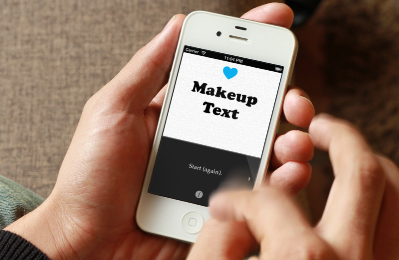 makeuptext app on iphone