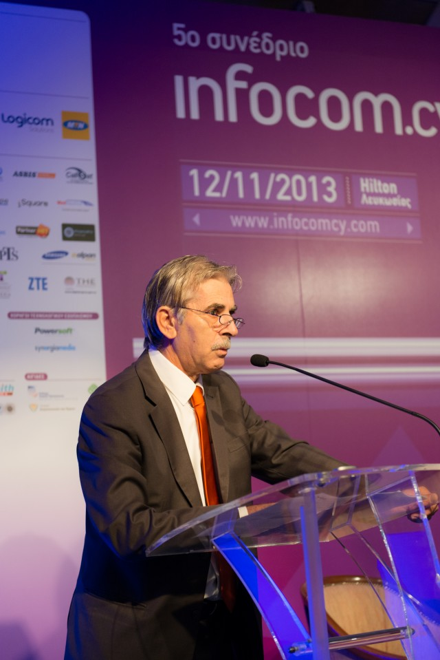 Ο Πρόεδρος του Συνδέσμου Εταιρειών Τηλεπικοινωνιών Κύπρου Κος Σολωμός Κυριάκου