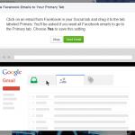 Facebook gmail popup