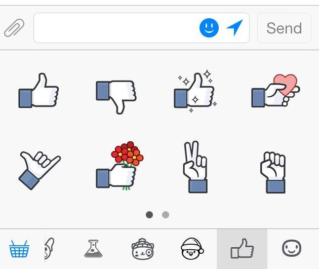 Facebook Like sticker pack