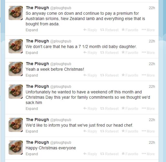 Jim Knight Plough Pub twitter