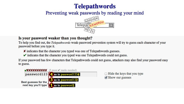 Telepathwords-password-guesses
