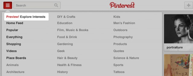 pinterest preview explore interests