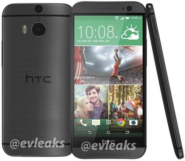 All New HTC One 2014 leaked black