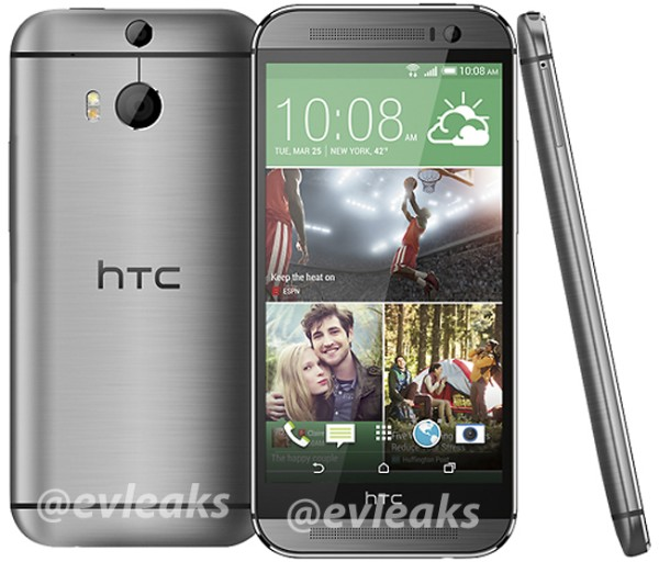 All New HTC One 2014 leaked silver