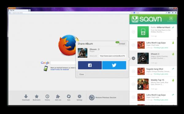 Firefox 27 Saavn-600x374