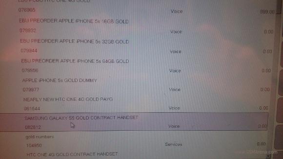 χρυσό Samsung Galaxy S5