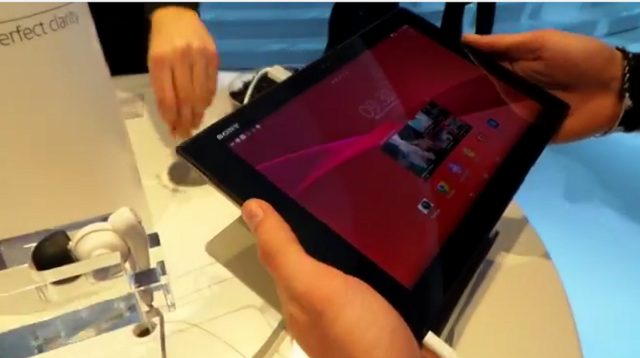 Sony Xperia Z2 tablet hands-on MWC 2014