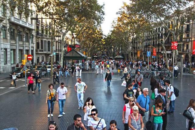 Spain-Barcelona-La-Rambla-Day-L