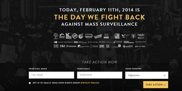 The Day we Fight Back. Σήμερα η παγκόσμια διαμαρτυρία κατά των μαζικών παρακολουθήσεων της NSA