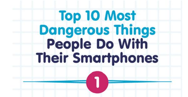 10 επικίνδυνα πράγματα που κάνουμε με το smartphone μας