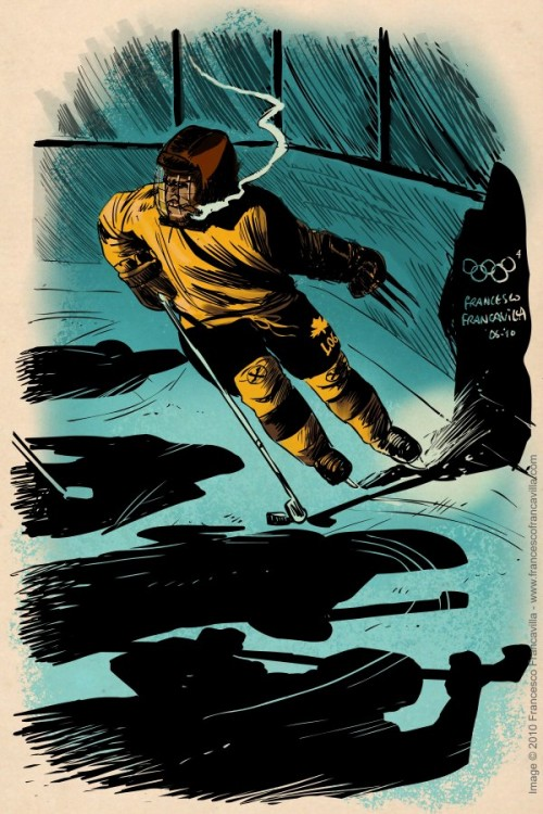 Francesco-Francavilla-The-Winter-SUPER-Olympics-Wolverine-500x750