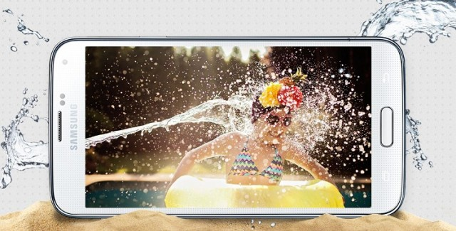 Samsung Galaxy S5 waterproof phone