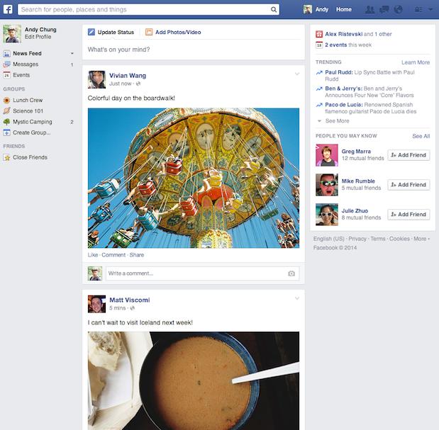 facebook new news feed 2014