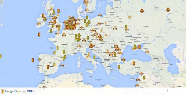 google naps europe