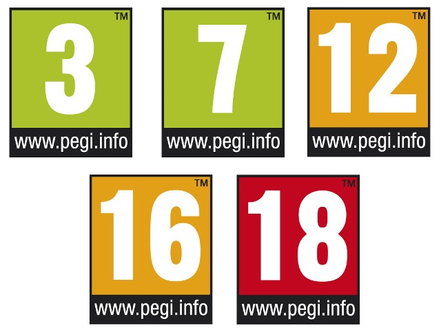 Σε περίπτωση που δεν σου λένε κάτι, ιδού τα βασικά σηματάκια των ηλικιακών αξιολογήσεων του συστήματος PEGI. Δεν χρειάζεται μεταπτυχιακό για να καταλάβεις τι σημαίνει το καθένα, έτσι;