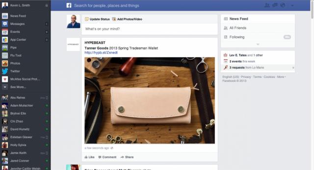 redesign facebook