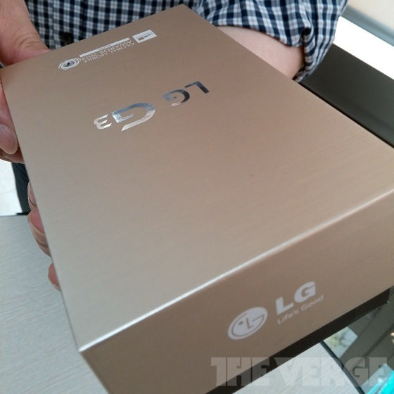 LG G3 package gold