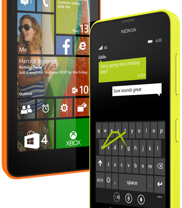 Nokia Lumia 630 Word Flow
