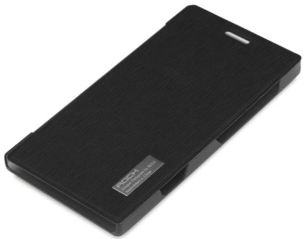 Rock Side Flip Case Elegant Series Nokia Lumia 925 Black