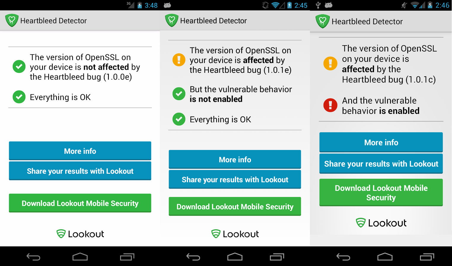 heartbleed detector app for android